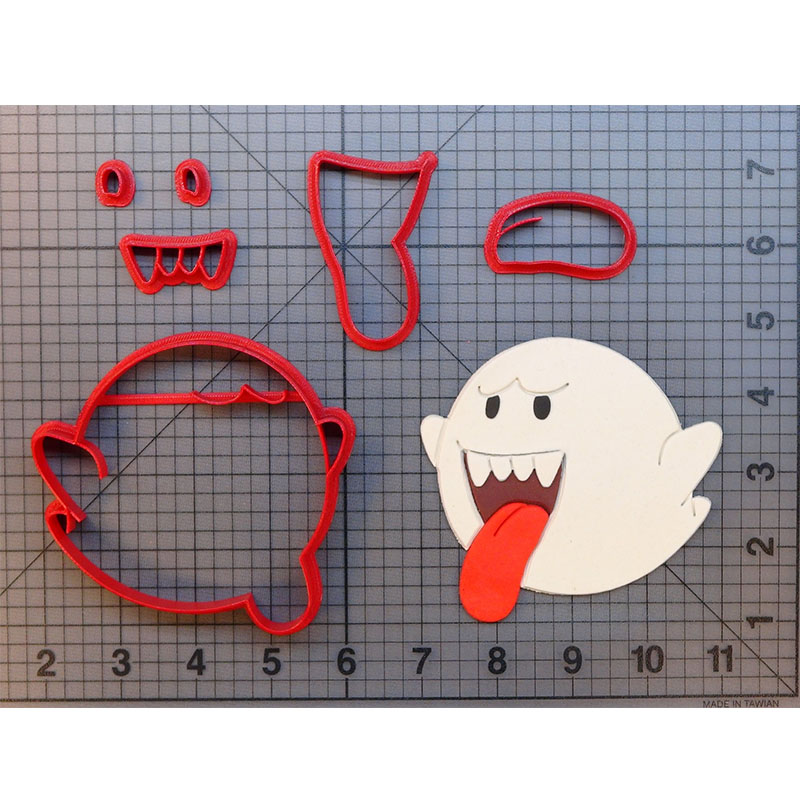 Vedio Game Character Super Mario Boo Cookie Cutter Design Fondant Cupcake Mould Custom Made 3D Printed Biscuit Cutters Molds