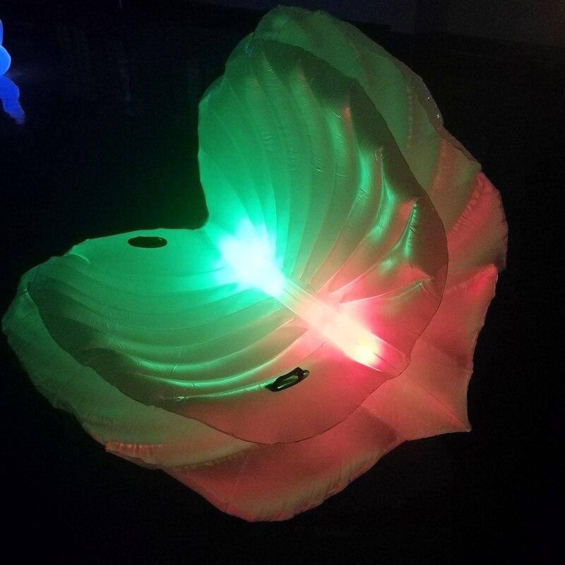 LED подсветкой надувные Seashell бассейна гигантские надувные моллюска оболочки с Жемчуг плавательный кольцо для взрослых воды забавная игрушк