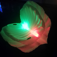 LED Lighted Inflatable Seashell Pool Float Giant Inflatable Clam Shell with Pearl Swimming Ring for Adults Water Fun Toy Piscina