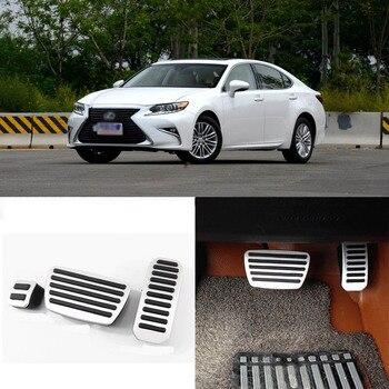 Lexus es 2010-2016 용 알루미늄 미끄럼 방지 발 받침 연료 가스 브레이크 페달 커버 세트