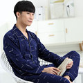 2016 winter men's pajamas thickening warm flannel mens pyjama sets lounge wear comfortable coral fleece male sleepwear homewear