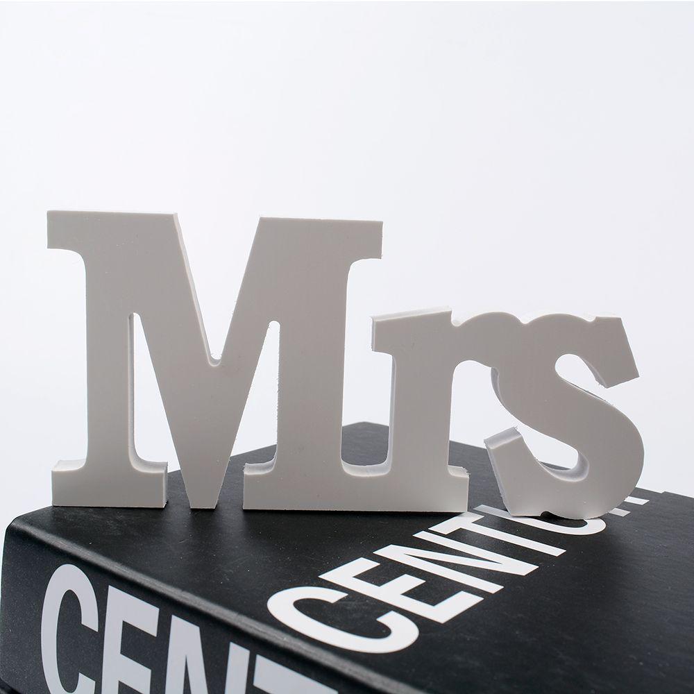 Свадебные Приём знак одноцветное деревянные буквы Mr & Mrs стол центральным элементом декора набор