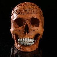 Resin Craft Skull Statue&Sculpture Ornaments Creative Home Decoration Skull Pub Decoration In Halloween Modern Caveira Crafts