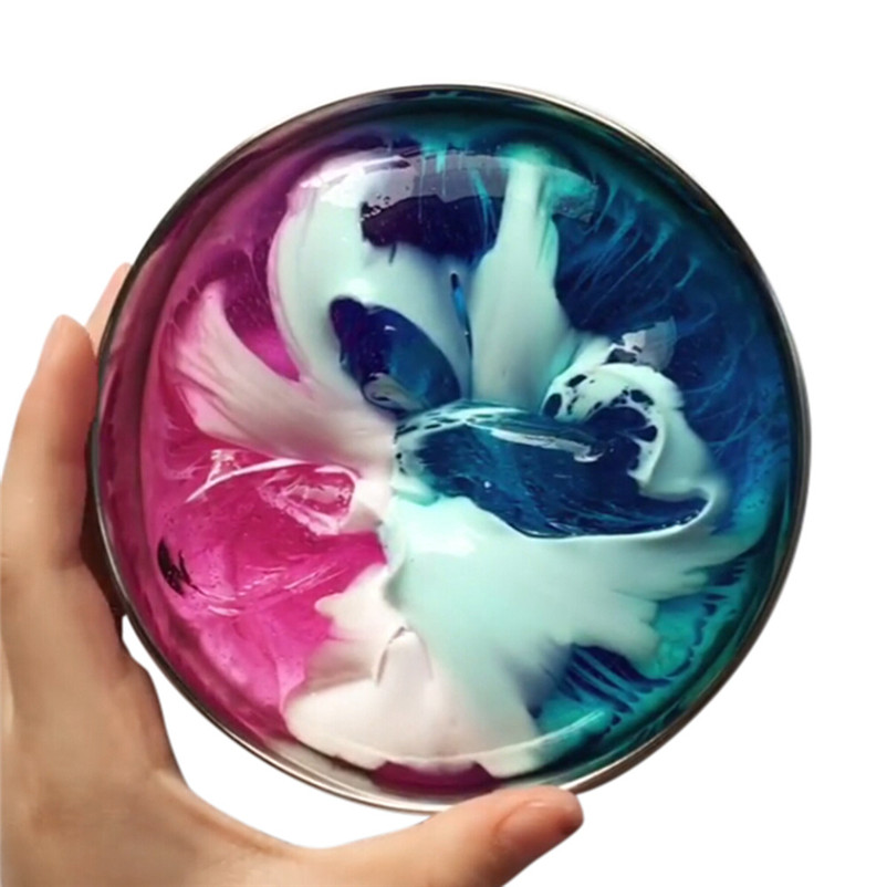 2018 NEW INS Beautiful Color Mixing Cloud Slime Squishy Putty Scented Stress Kids Clay Toy Dropshipping Wholesaling retailing P5