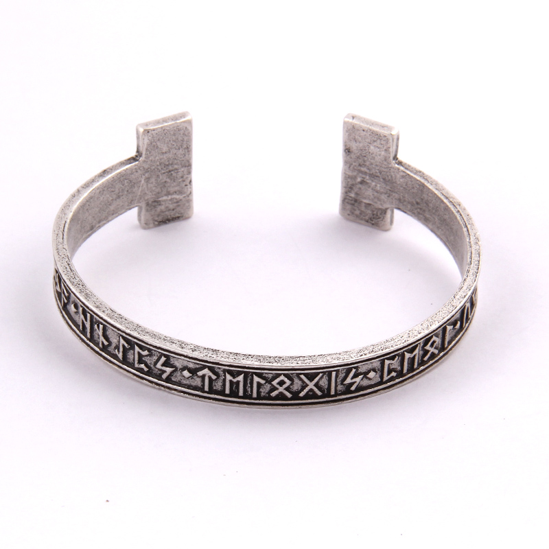 1pc Men's Handmade Nordic Rune Bangle Viking(China)