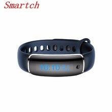 Smartch Смарт-фитнес браслет пульсометр Приборы для измерения артериального давления метр V8 SmartBand шагомер браслет сердечного ритма Мониторы Мужчины Смотреть P