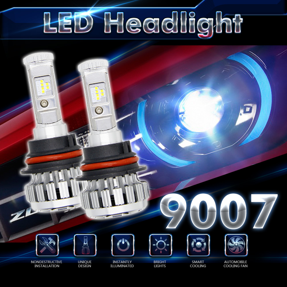 ФОТО One Pair HB5 9007 70W 80W 120W 6000K LED Error Free Canbus White 7000LM 8000LM 12000LM Fog Headlights For VW Polo Tiguan Jetta