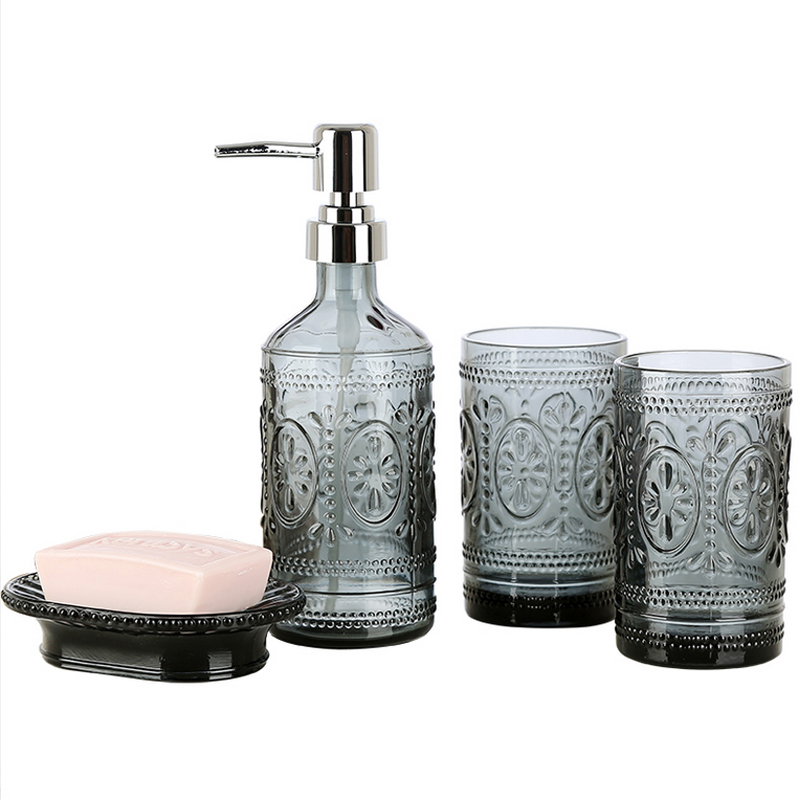Bathroom Products Four piece Set 2 Bathroom Tumblers Soap Dishes body wash Dispensers Creative European Creative Home Bathroom