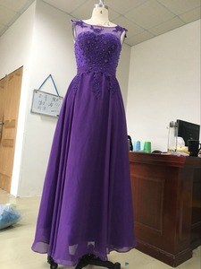 Image 3 - ANGELSBRIDEP Plus Size Appliques Beading Chiffon Long Evening Dresses Formal Party Prom Gowns Robes De Soiree 2020 Loss Sell