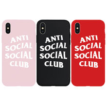 f29bfc9662f5 ASSC Anti Social Club Soft Case for iPhone 6 6Plus 6s 6sPlus 7 7Plus 8  8Plus X Xs XR Xs Max 5 5s SE Phone Cover Coque Hull Capas