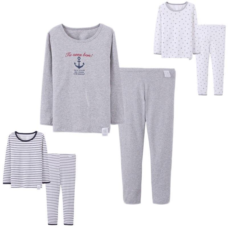 10f37838db 2017 nuevos pijamas de algodón para niños