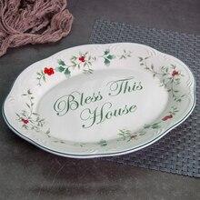 11 inch Ellipse retro ceramic Dishes Underglaze color Chinese Porcelain Plates Elliptical Plates Restaurant Porcelain Tableware