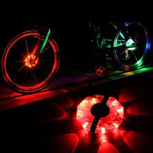 2017 New Waterproof Bicycle Cycling Hubs Light Bike Front/Tail Light Colorful Led Spoke Wheel Warning Light Bike Accessories