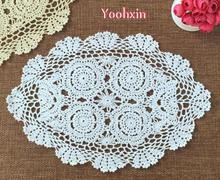 New oval Cotton Crochet tablecloth white tea handmade Christmas Table cloth lace towels dining Table Cover home wedding decor