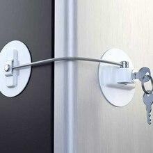 Защита от детей замок на окно холодильник предохранительный ограничитель замок для ящика двери Secur ключ замок цинковый сплав Материал для прочности 522