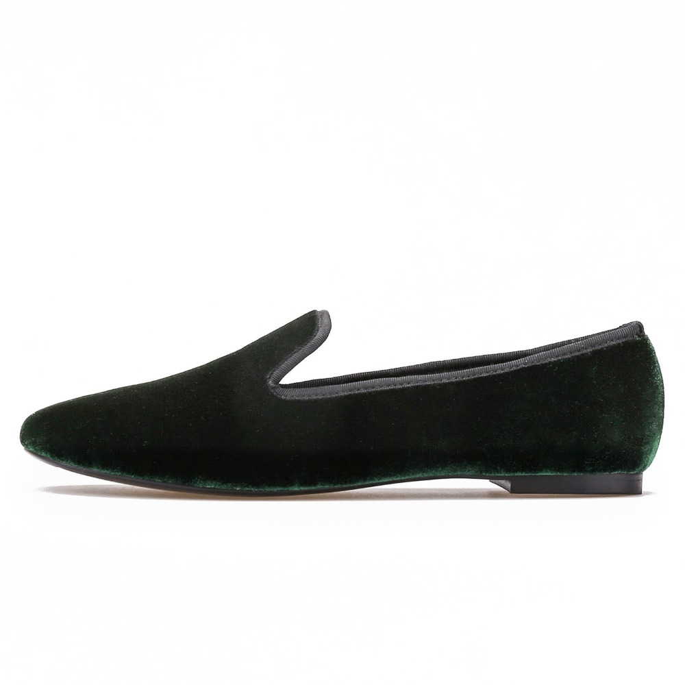 Chaussures de velours de qualité Femmes Mode main femmes Mocassins Grande-Bretagne style Smoking Flat Plus Size Slipper femmes Fsv9EmelkE