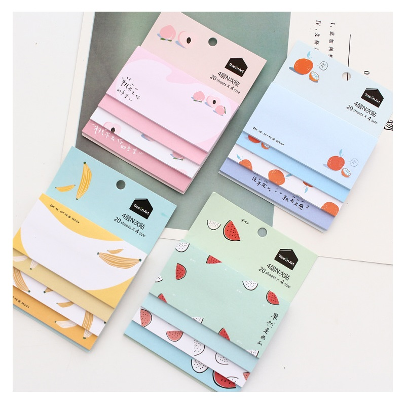 Fruit Shape Memo Note Pads office Paper Products  F05