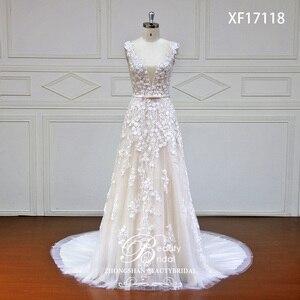 Image 1 - Robe de mariée en dentelle japonaise, avec fleurs sur mesure, avec perles de cristal, robes de mariée bonne qualité, modèle offres spéciales, XF17118