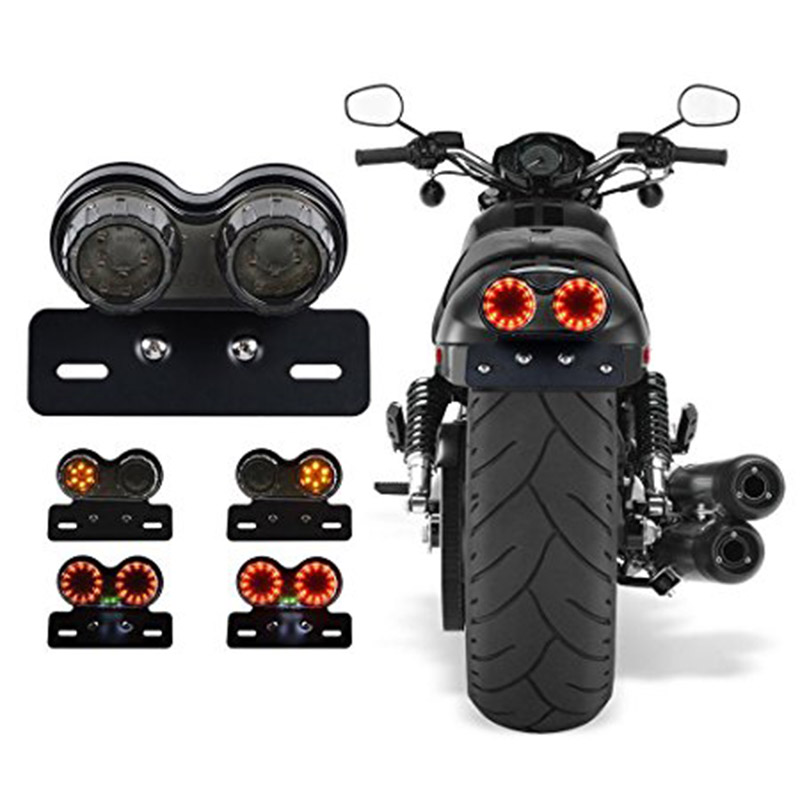 Universal 40 LEDs Motorcycle Motor Taillight License Plate Holder with Turn Signal Brake Stop Light CSL2018