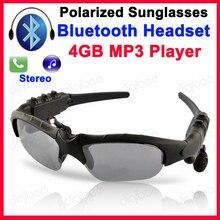 Óculos de Sol do esporte fone de Ouvido Bluetooth Fones De Ouvido 4 gb MP3 Jogador U-Disk Sem Fio Fones de Ouvido Estéreo w/Mic Para o iphone X Huawei Xiaomi