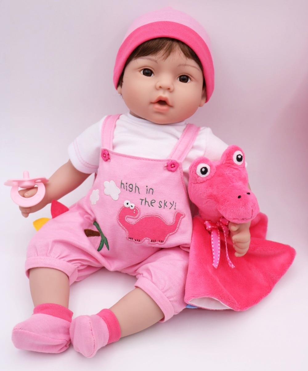 40 cm Silicone Reborn bébé poupée jouet vinyle bebe vivant jumeaux bleu/rose porte-bébé élingue bonecas jouet réaliste enfant cadeau d'anniversaire - 6