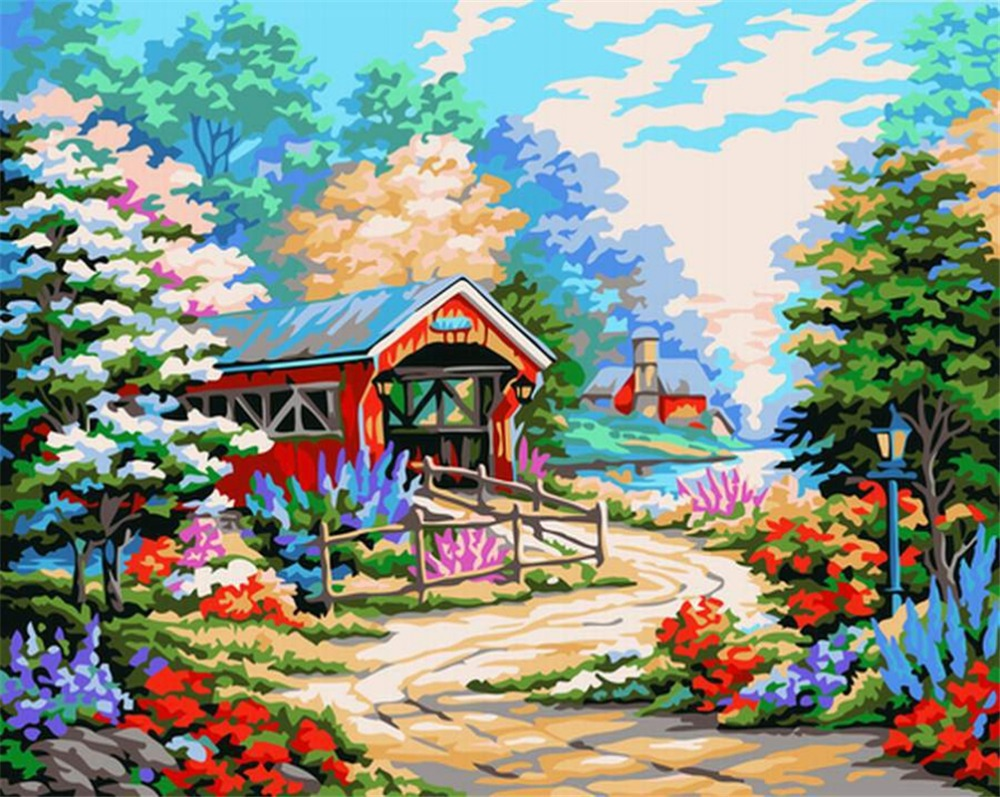 Aliexpress.com : Buy DIY oil painting by numbers Landscape ...