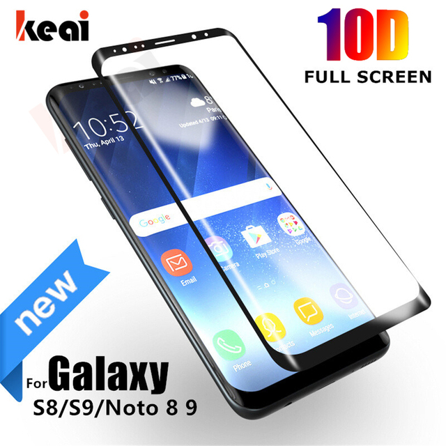 10D Full Curved Tempered Glass For Samsung Galaxy S9 S8 Plus S7 Edge Screen Protector For Samsung Note 8 9 A7 A6 A8 2018 Film 5D