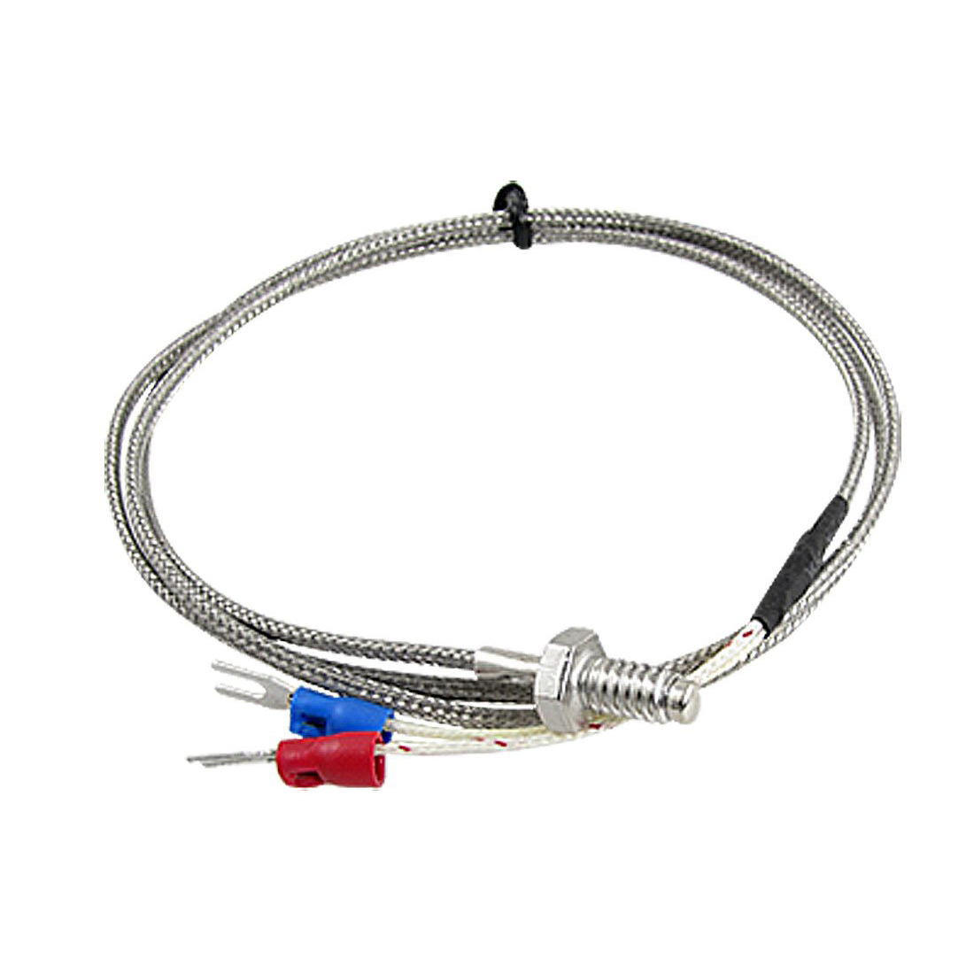 Arrive 3.3ft K Type Thermocouple Temperature Controller 0-400C Sensor Probe k type thermocouple probe temperature sensor silver 2 meters