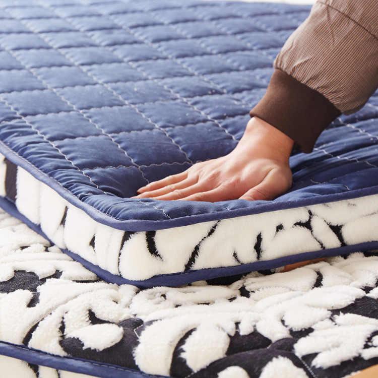 3D Flannel Pillowtop massage mattress double single dormitory cotton mattress bamboo fiber topper