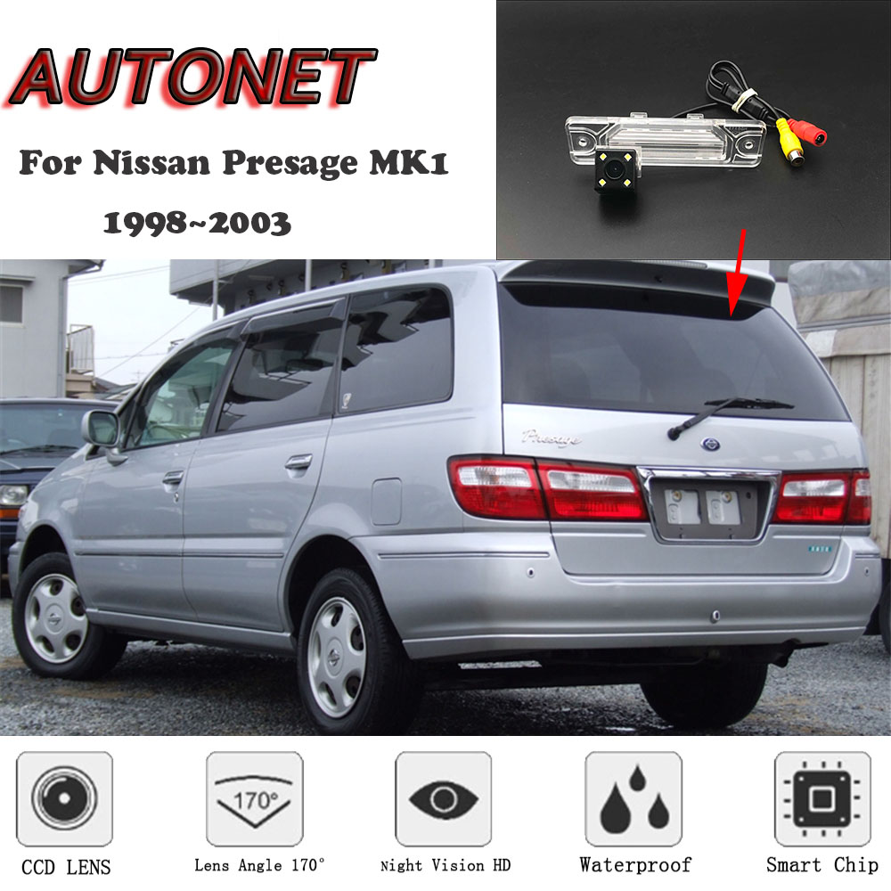 AUTONET HD Night Vision Backup Rear View Camera For Nissan Presage MK1 1998~2003 CCD/license Plate Camera Or Bracket