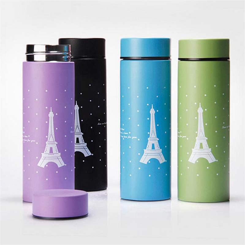 Stainless Steel Thermos Cup Eiffel Tower Thermoses Home Kitchen Vacuum Flasks 260ml Insulated Coffee Mug Travel