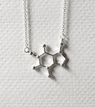1PCS- N003 Unique Design Caffeine Chemistry Elemant Necklace Trendy Chain Pendant Clavicle Molecule Necklace Jewelry