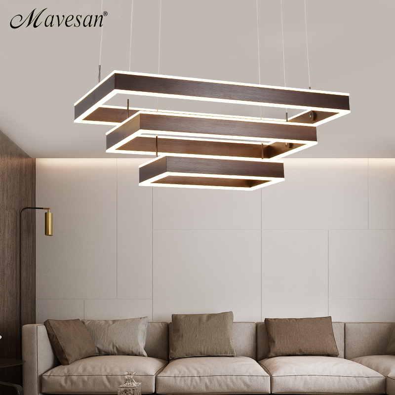 Modern Led Pendant Lamps for dinning Room Acrylic round circle hanging lamp remote control led dining room kitchen pendant light