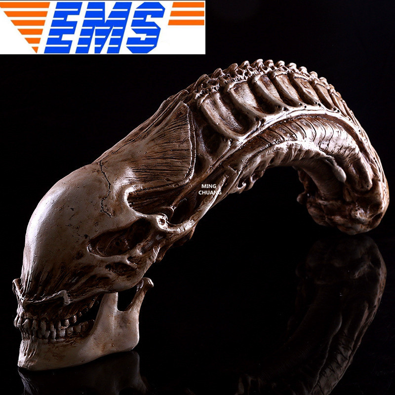 Alien VS Predator 1:1 Alien Skull Artware Alien Queen Home Decoration AVP Halloween Action Figure Collectible Model Toy W99 цена