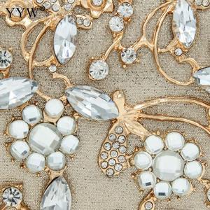 Image 3 - Pochette en cristal pour femmes, pochette de soirées et de mariages, sacs de luxe à bandoulière avec chaîne, sac à bandoulière avec strass