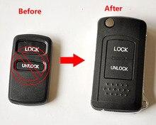 2 Кнопки Изменения Флип Складные Дистанционного ключа shell Для Mitsubishi Hafei Гоночный Changfeng Pajero V73 Outlander Правой Лопатки