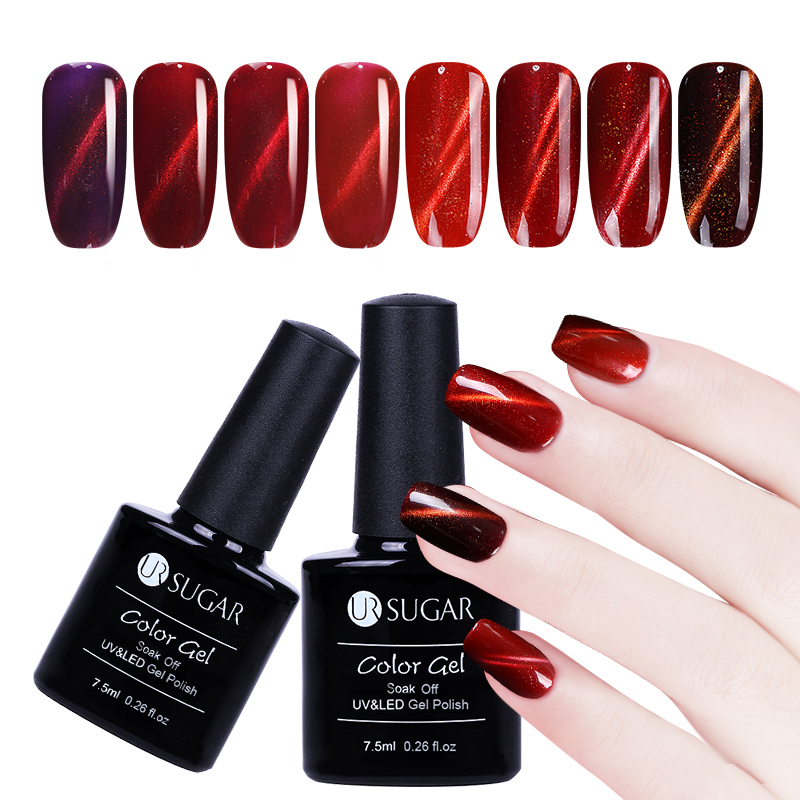 3pcs 3d Cat Eye Gel Magic Box Magnetic Nail Gel Polish Soak Off Led Uv Gel Polish With Magnet Stick Luxuriant Jade Effect Diy Beauty & Health