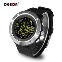 EX36 OGEDA Bluetooth Wristwatch Waterproof Smart Men Watch Sport Pedometer Stopwatch Call SMS Alert Smartwatch For Smart Phone