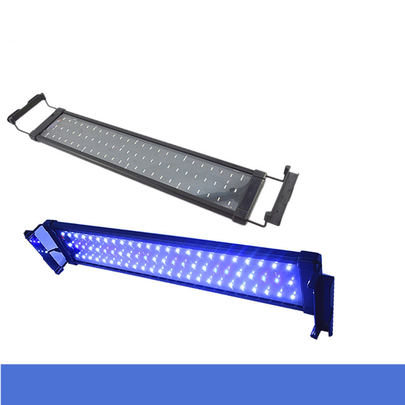 6W 12-20 Aquarium LED Lighting Freshwater Tropical Fish Tank Hi Lumen Extensible LED Fixtures Blue White LED Lamp ...