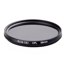 RISE 58mm dairesel polarize CPL C PL filtre lens 58mm Canon NIKON Sony Olympus kamera için