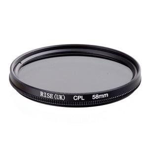 Image 1 - RISE 58mm polaryzacja kołowa CPL C PL soczewka filtra 58mm do aparatu Canon NIKON Sony Olympus