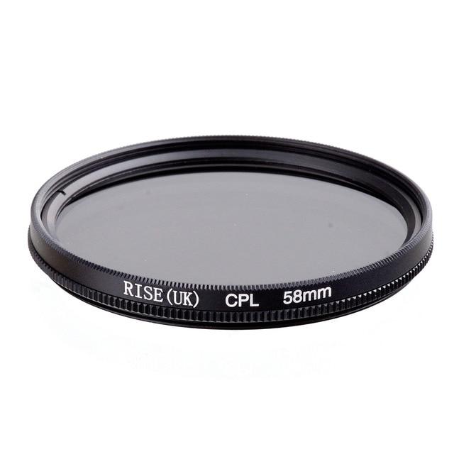 RISE 58mm polaryzacja kołowa CPL C PL soczewka filtra 58mm do aparatu Canon NIKON Sony Olympus