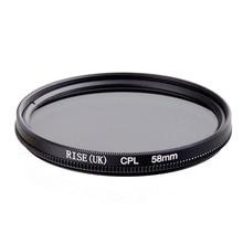 Tăng 58 Mm Tròn Phân Cực CPL C PL Lọc 58 Mm Cho Canon Nikon Sony Máy Ảnh Olympus