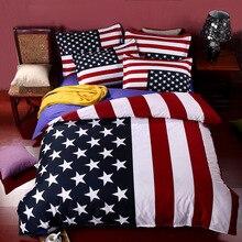 Britische Flagge/Amerikanische Flagge Bettwäsche Set Hohe Qualität Bettwäsche Cartoon Bettwäsche Bettbezug Flaches Blatt Kissenbezug Kostenloser Versand