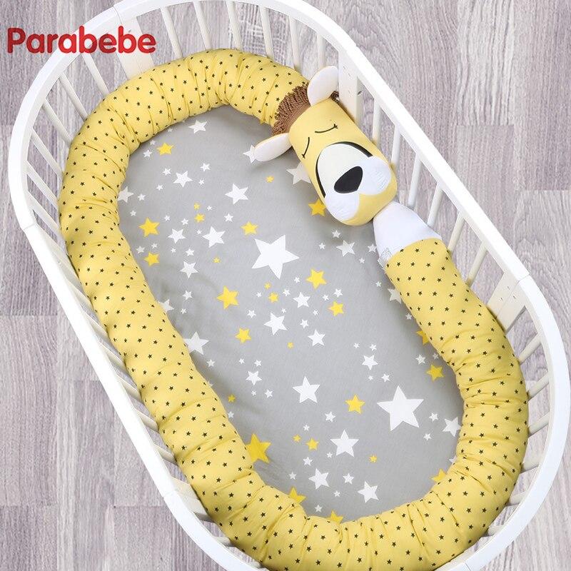 330X14 CM licorne bébé pare-chocs bébé literie berceau pare-chocs lit pare-chocs nouveau-né coton imprimé berceau protecteur pour bébé Lion dossier