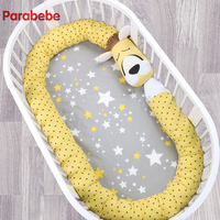 330X14CM Unicorn Baby Bumper Baby Bedding Crib Bumpers Cot Bumper Newborn Cotton Printed Crib Protector for Infant Lion backrest
