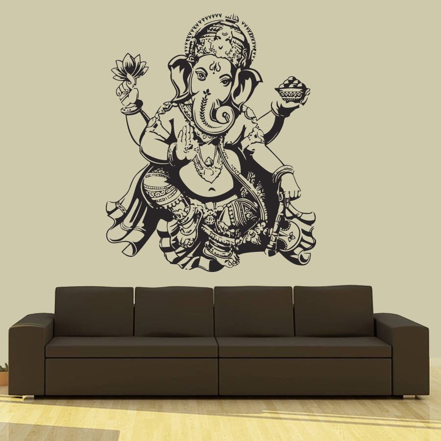 India Yoga Elephant Buddha Indian Decal Window Sticker Room Vinyl sticker Handmade 4542