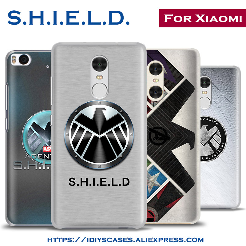 S.H.I.E.L.D. Agents of Shield HYDRA coque Phone Case Shell Cover For Xiaomi Redmi 3S 3 Note 2 3 4 Pro Mi4 Mi5 Mi4C Mi5S Mi5SPlus