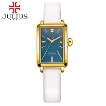 Preety Девушки простой мода повседневная кварцевые аналоговые часы Женские кожаный ремешок высокое качество подарок часы Известный Julius 941 час времени