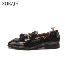 Sapatos De Grife italiana de Alta Qualidade Mocassins Homens Sapatos de Luxo De Verão Festa de Casamento Deslizamento de Couro Genuíno Em Preto Sapatos Tamanho Grande